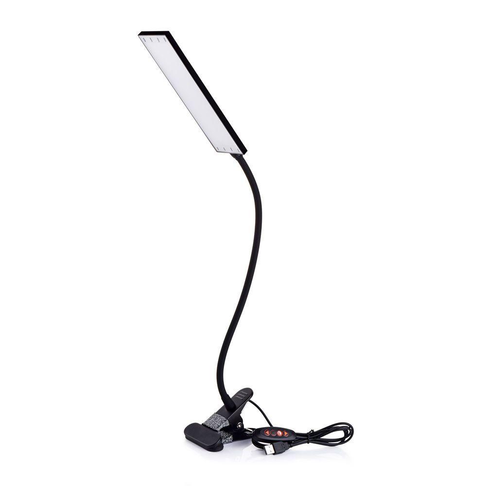 Kootion usb flexible gooseneck tube clip on led desk lamp reading