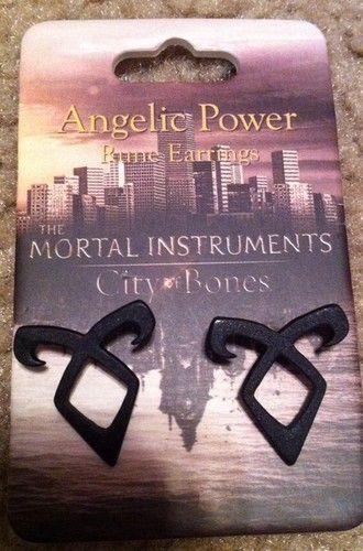 The Mortal Instruments City Of Bones Rune Post Stud Earrings Angelic
