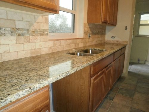 Kitchen Backsplash Ideas With Santa Cecilia Granite Kitchen