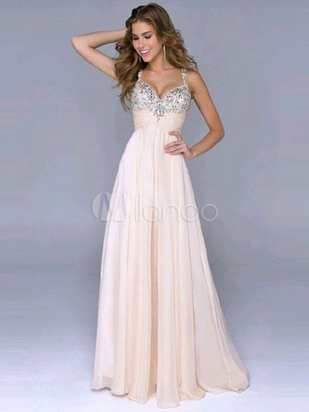 Rosa vestito scollato Lunghi Abiti da Cerimonia paillettes  0047e262187