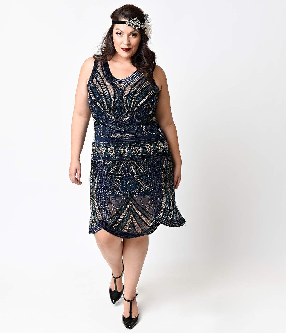 plus size 1920s dress attire | Robes garçonnes, Robe grande