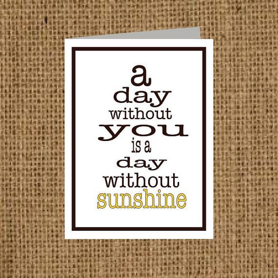 A Day Without You - Valentine or Love Card + Matching Label Option