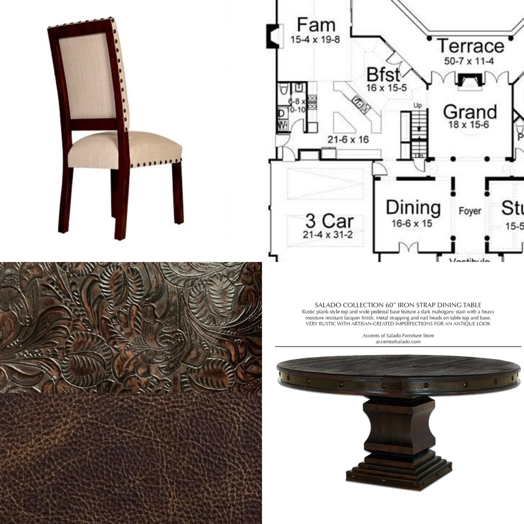 We Created A Custom Old World Dining Chair With Tooled Leather For