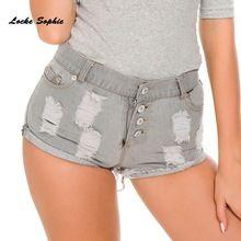 42feb6572 High waist Sexy Women's jeans denim shorts 2019 Summer Fashion Denim broken  hole shorts Ladies Skinny