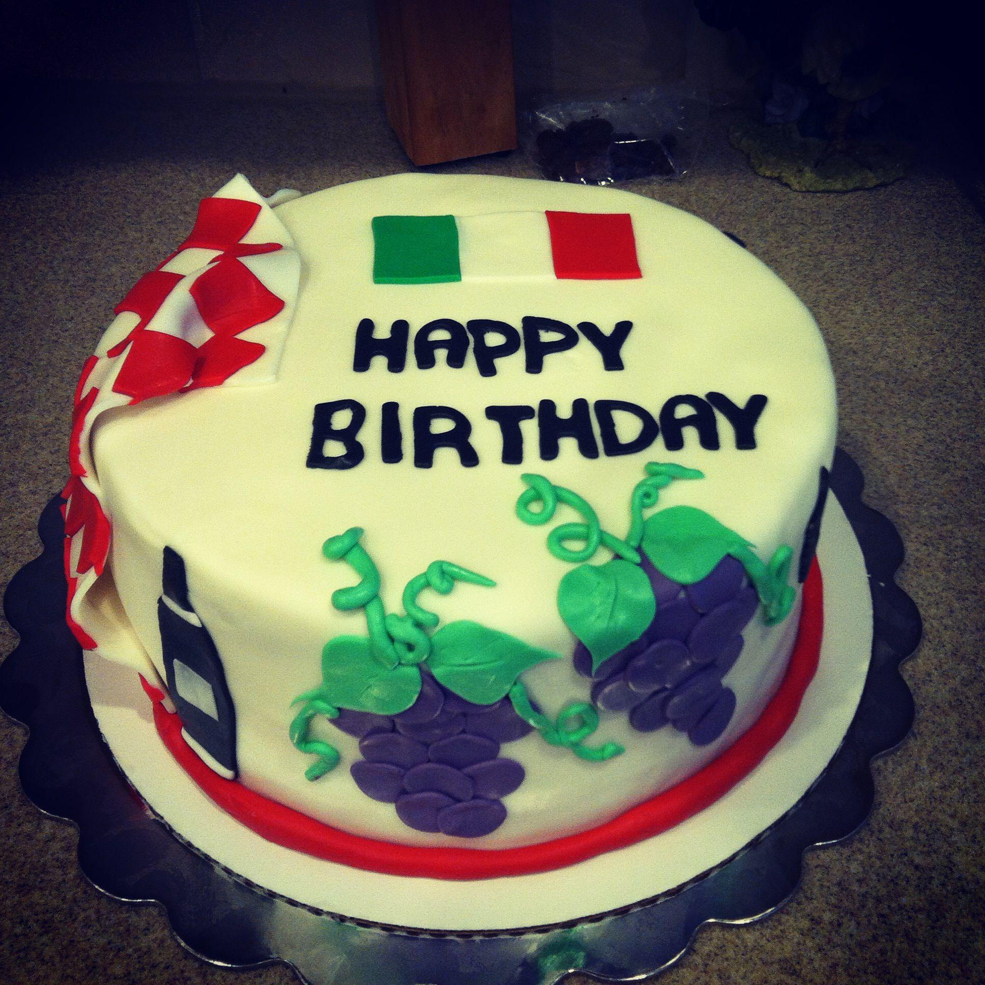 An Italian Themed Birthday Cake!