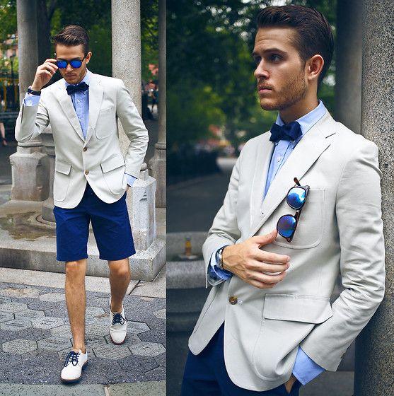 Club Monaco Blazer Club Monaco Blue Shirt Club Monaco Bow Tie Similar Here Sunglasses Summer Wedding Suits Beach Wedding Suits Beach Wedding Groom Attire