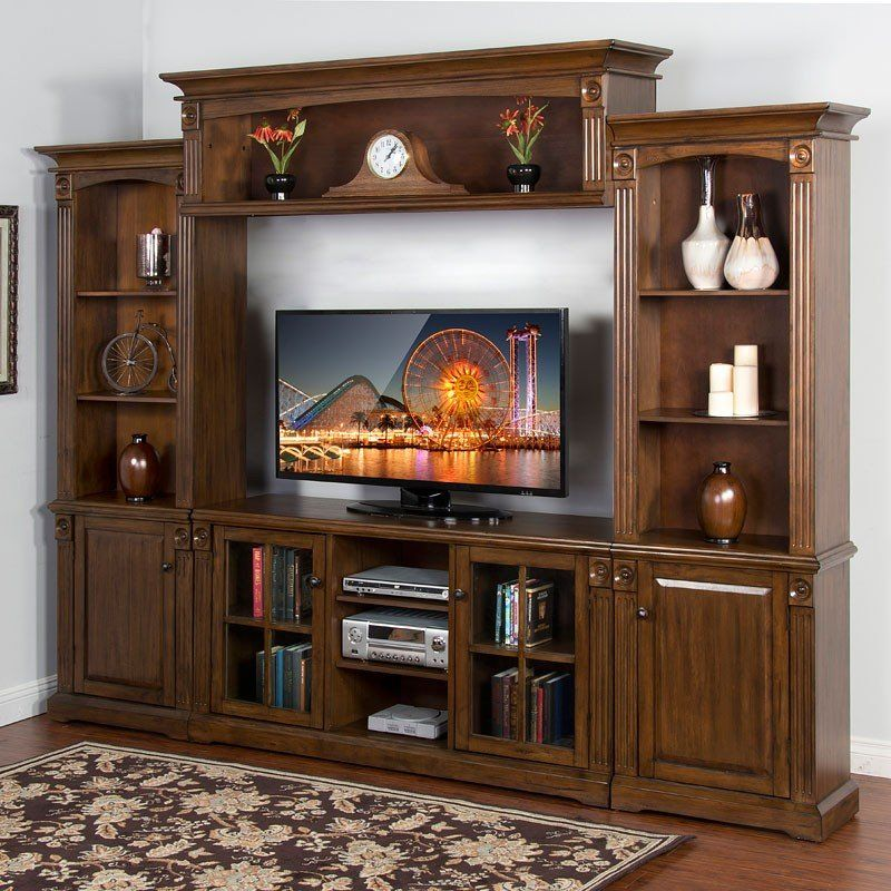 Savannah Grand Entertainment Wall With Images Wood