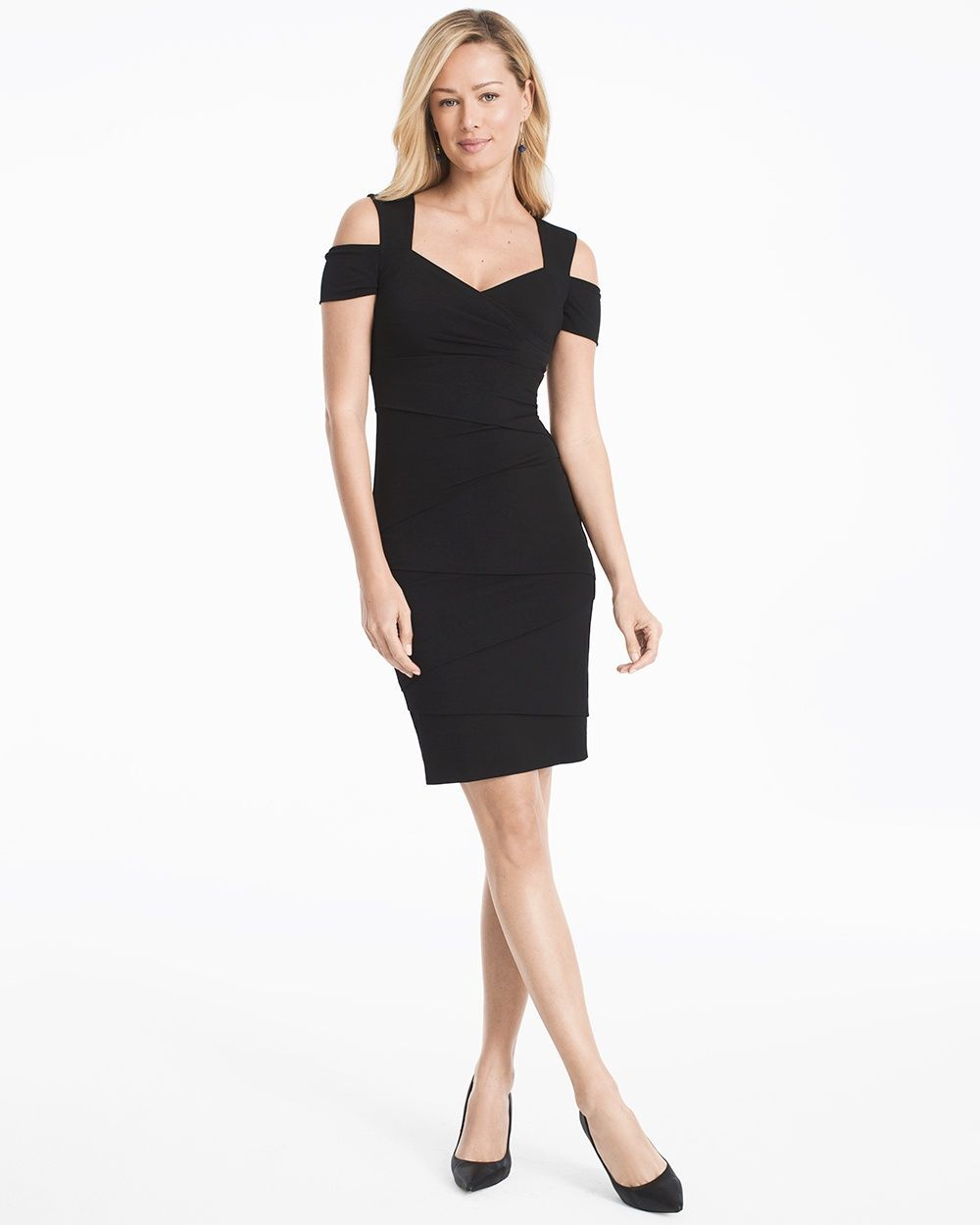 6d03434d6a4 Women s Cold-Shoulder Black Instantly Slimming Dress by White House Black  Market