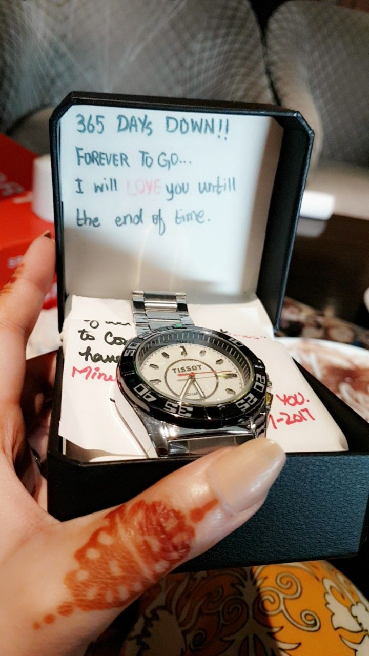 f5cc97585e6d Gave him wrist watch with a love note.