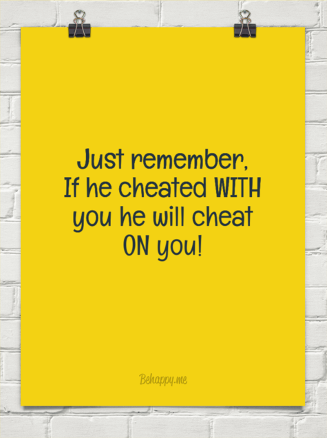 How to tell if he ll cheat