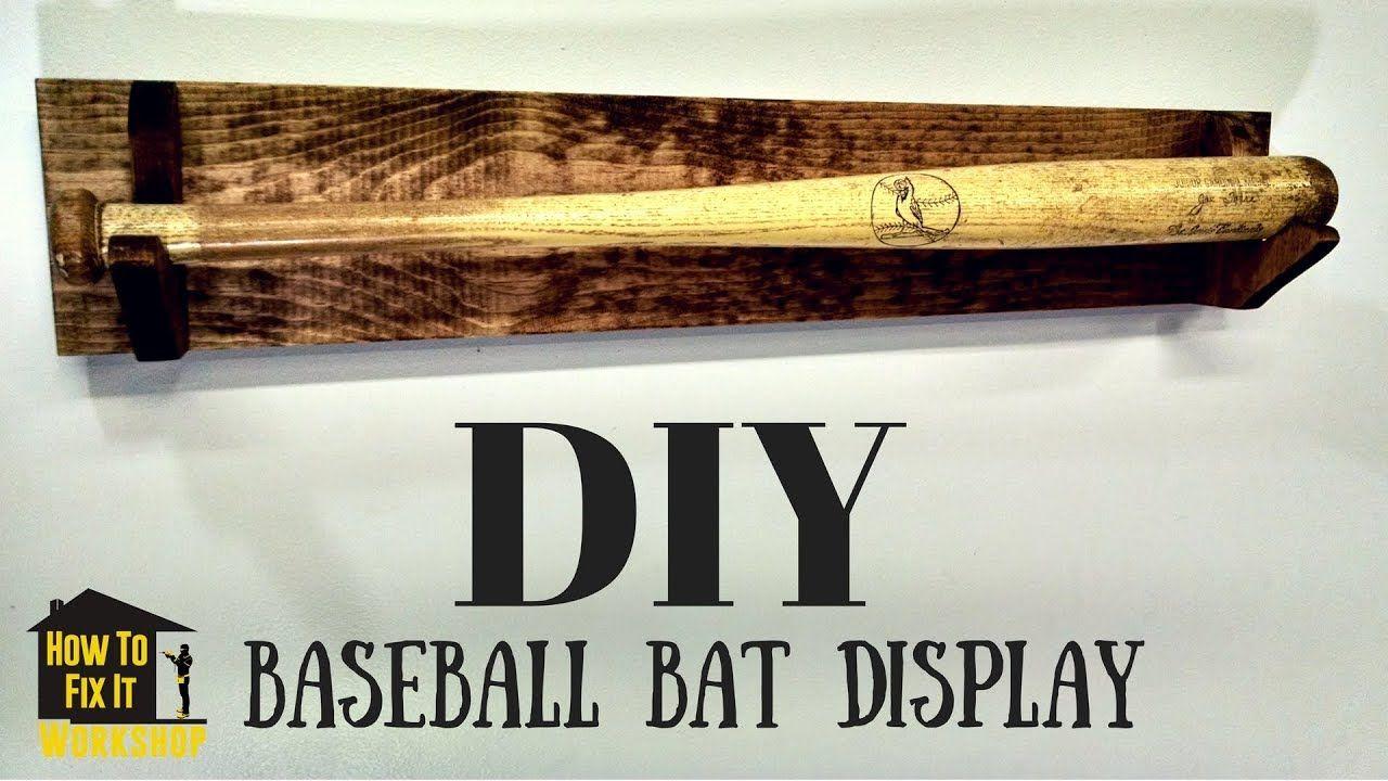 Simple Diy Baseball Bat Display Rack Baseball Bat Display Bat Display Baseball Bat Rack Display