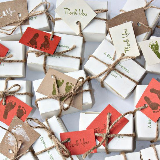 """Make these cute rustic """"Baby is Brewing"""" Favors for your next gathering!!!  Great for a woodland themed shower!"""