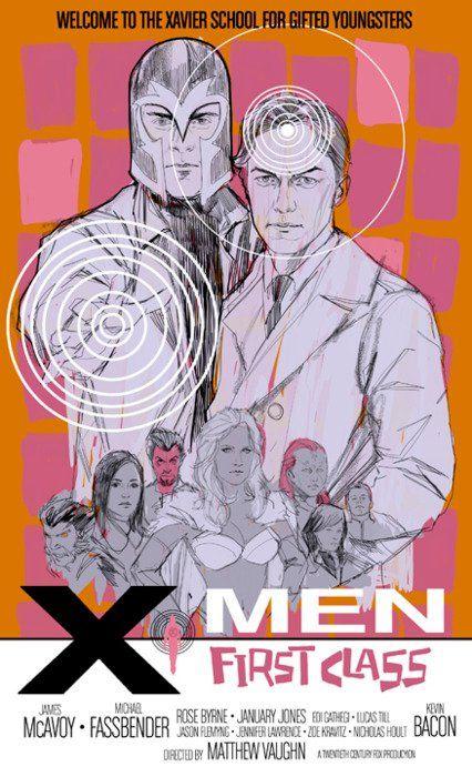 Retro X-Men First Class movie poster | The Long Box: Comic Books ...