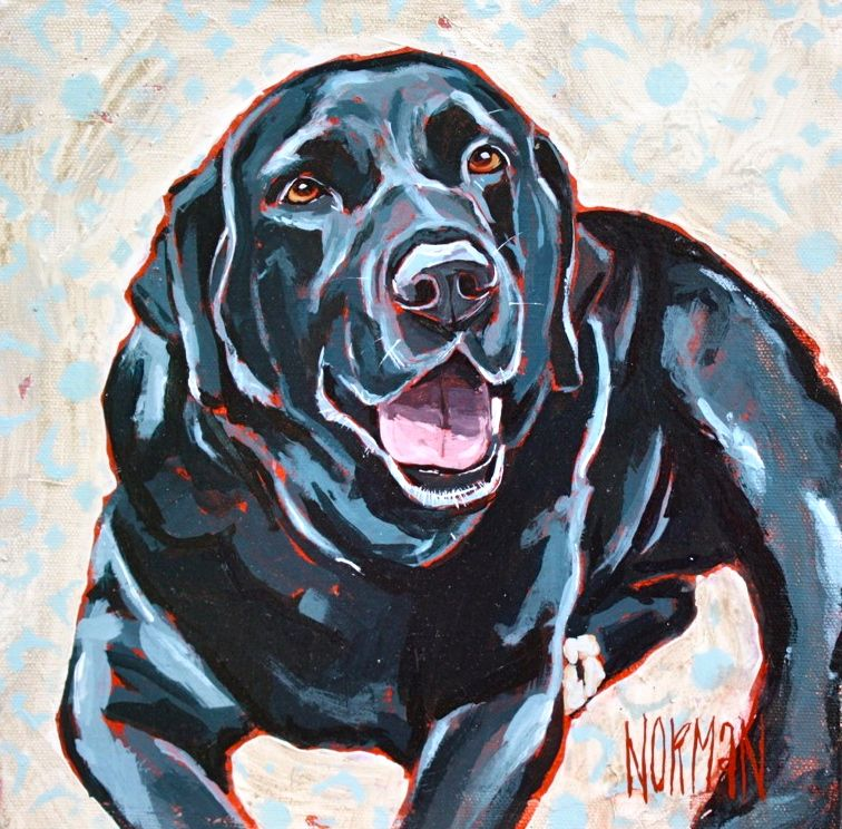 "Pet-Portraits black lab ""Cooper"" | Dog paintings, Labrador ..."