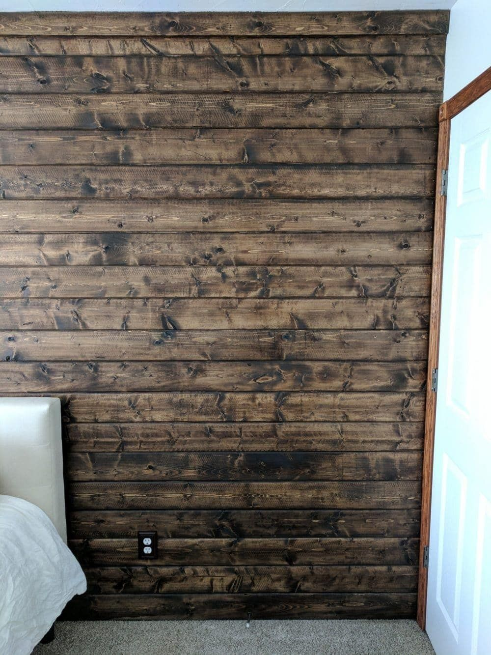 How To Build A Wood Plank Accent Wall Wood Plank Walls Wooden Accent Wall Wood Planks