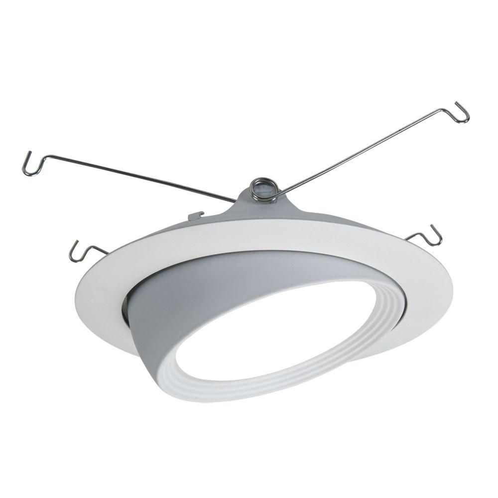 Halo 5 in matte white led recessed lighting eyeball trim and flange matte white led recessed lighting eyeball trim and flange aloadofball Gallery