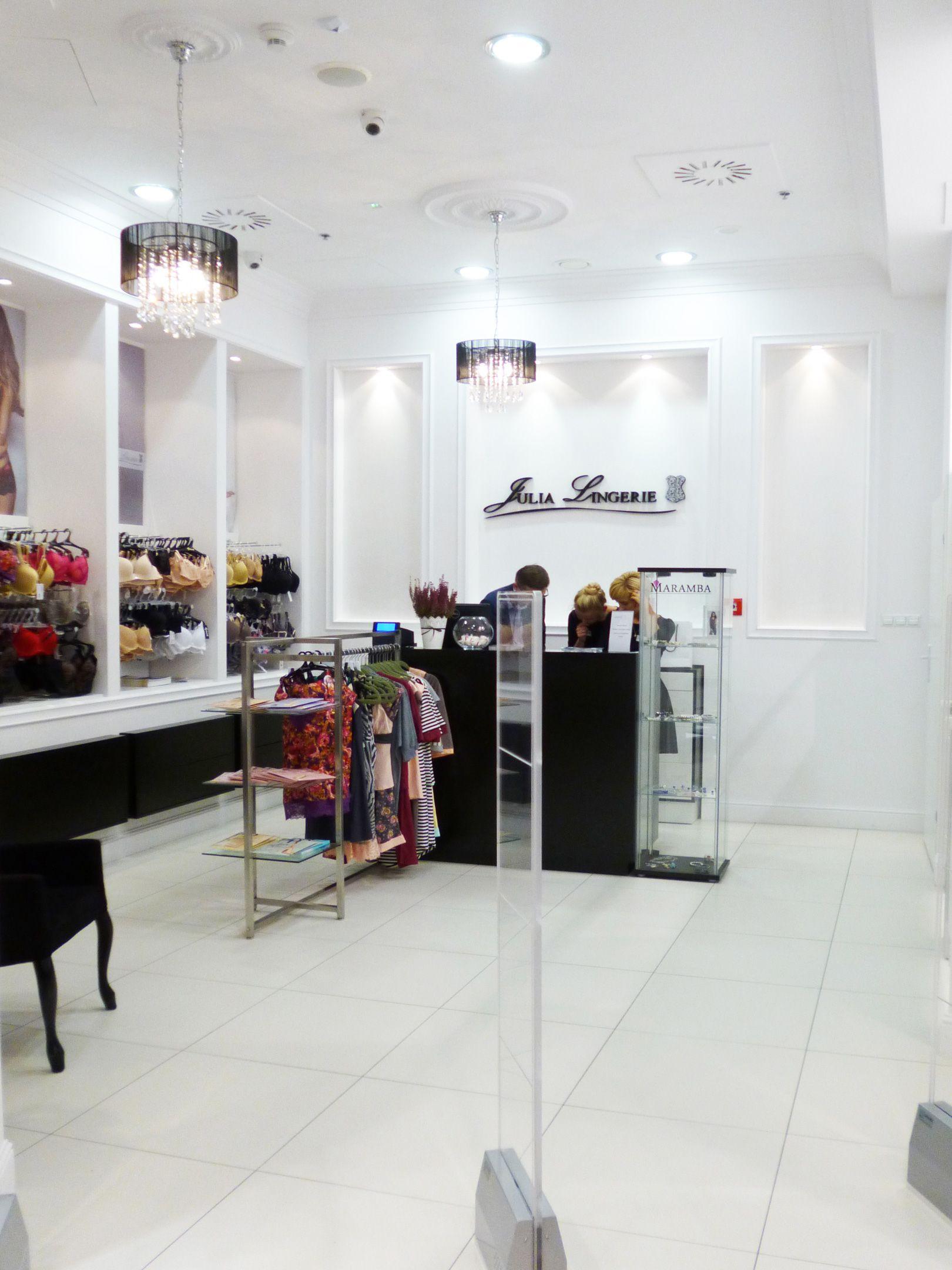 Wyposazenie sklepu z bielizną Julia Lingerie / Shop equipment ...