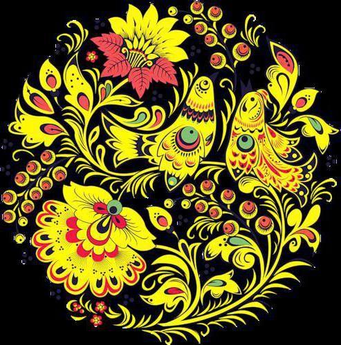 Хохломская роспись схемы для вышивки