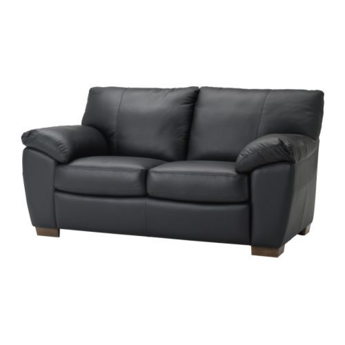 Flexsteel Sofa VRETA Two seat sofa Mjuk black IKEA