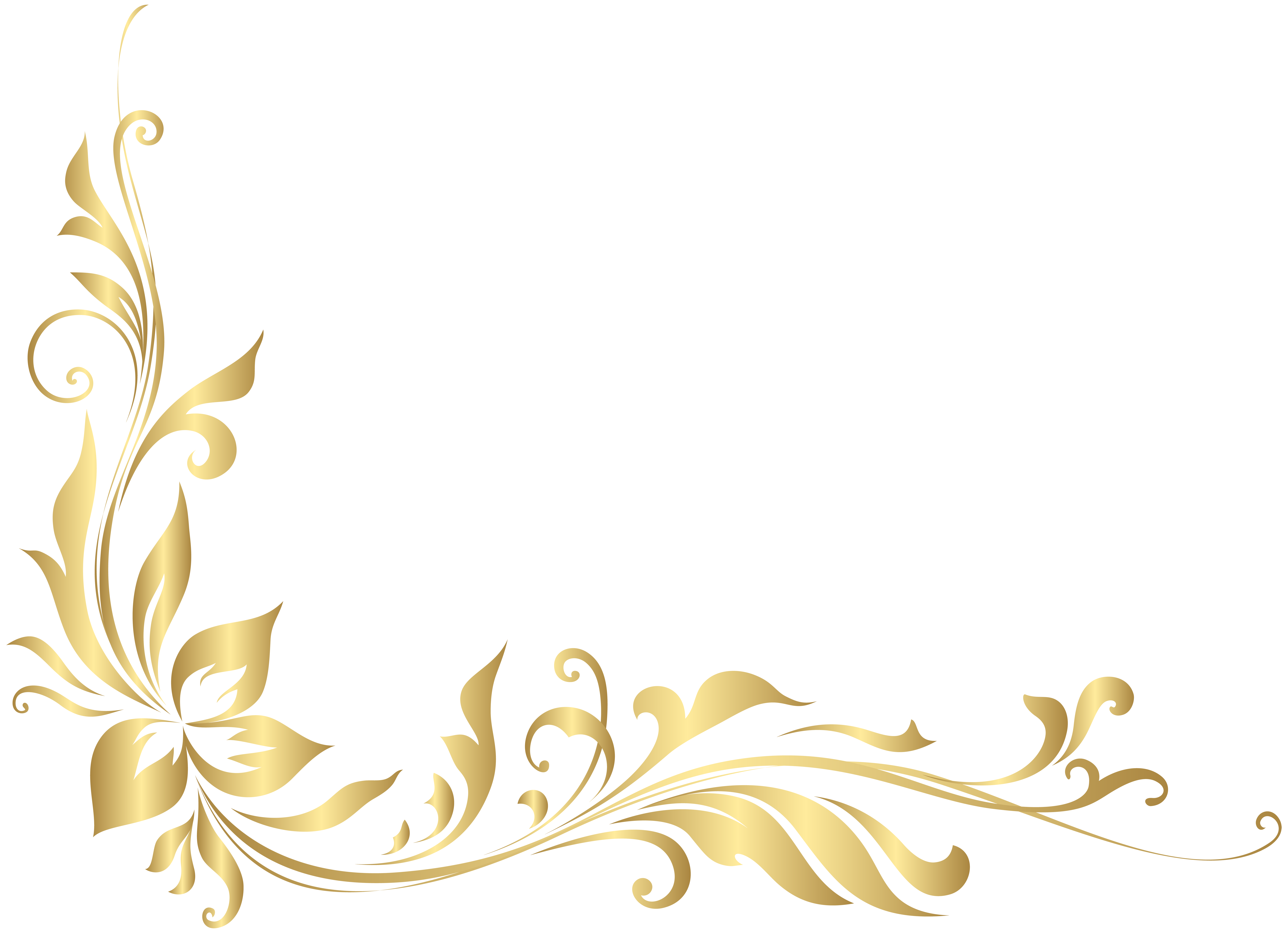 Golden Floral Decoration Transparent Png Clip Art Gallery Yopriceville High Quality Images And Transparent Png Fre Clip Art Floral Illustration Art Design
