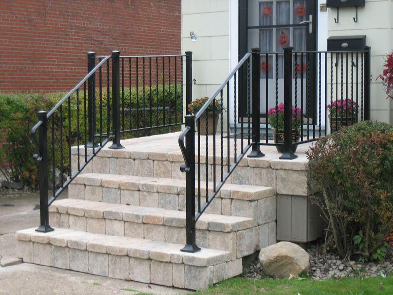 Aluminum Railings Old Dutchman S Wrought Iron Inc | Aluminum Handrails For Steps