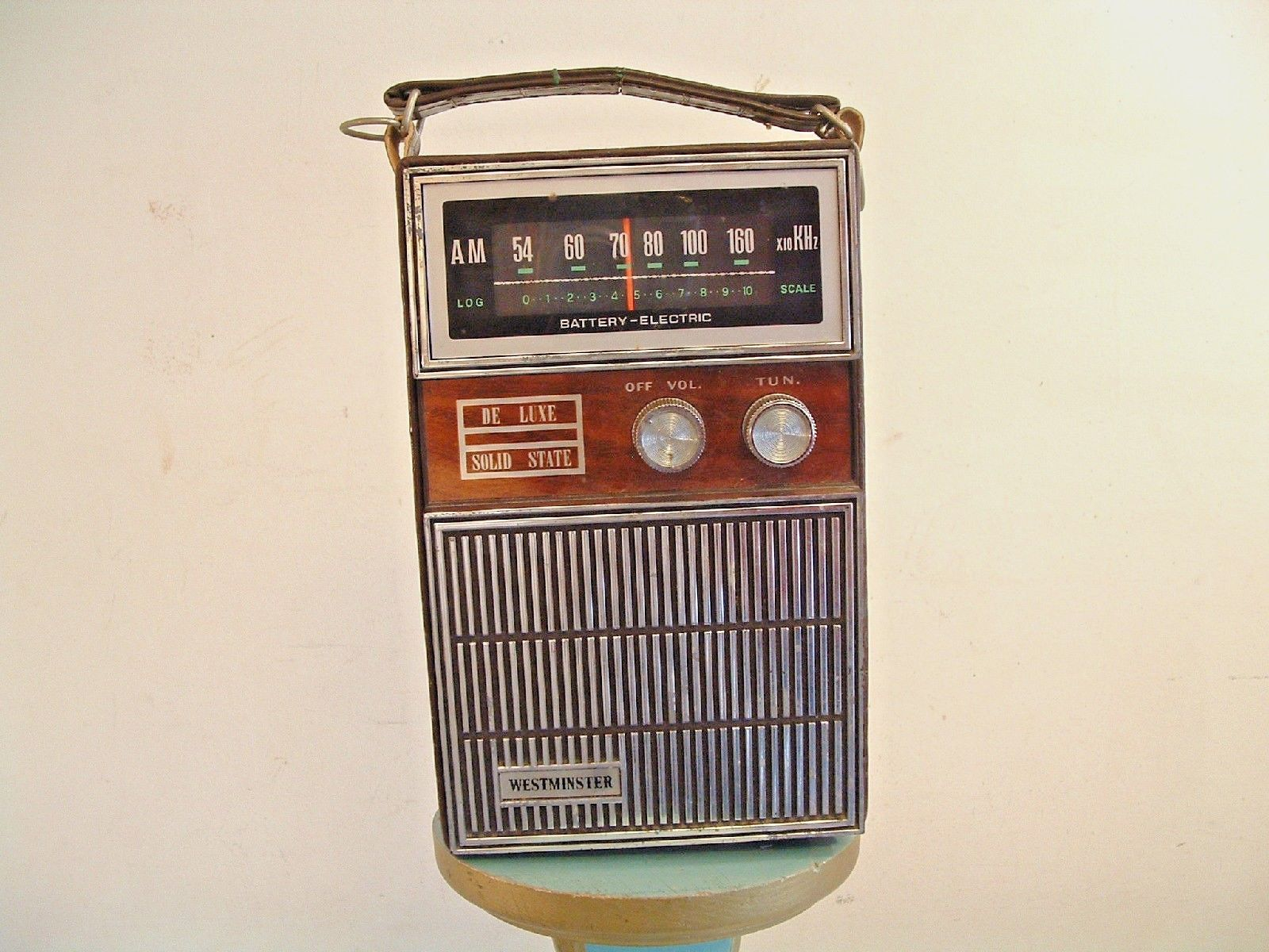 Vintage Brown Westminster Deluxe Solid State AM Portable Transistor Radio AC DC | eBay