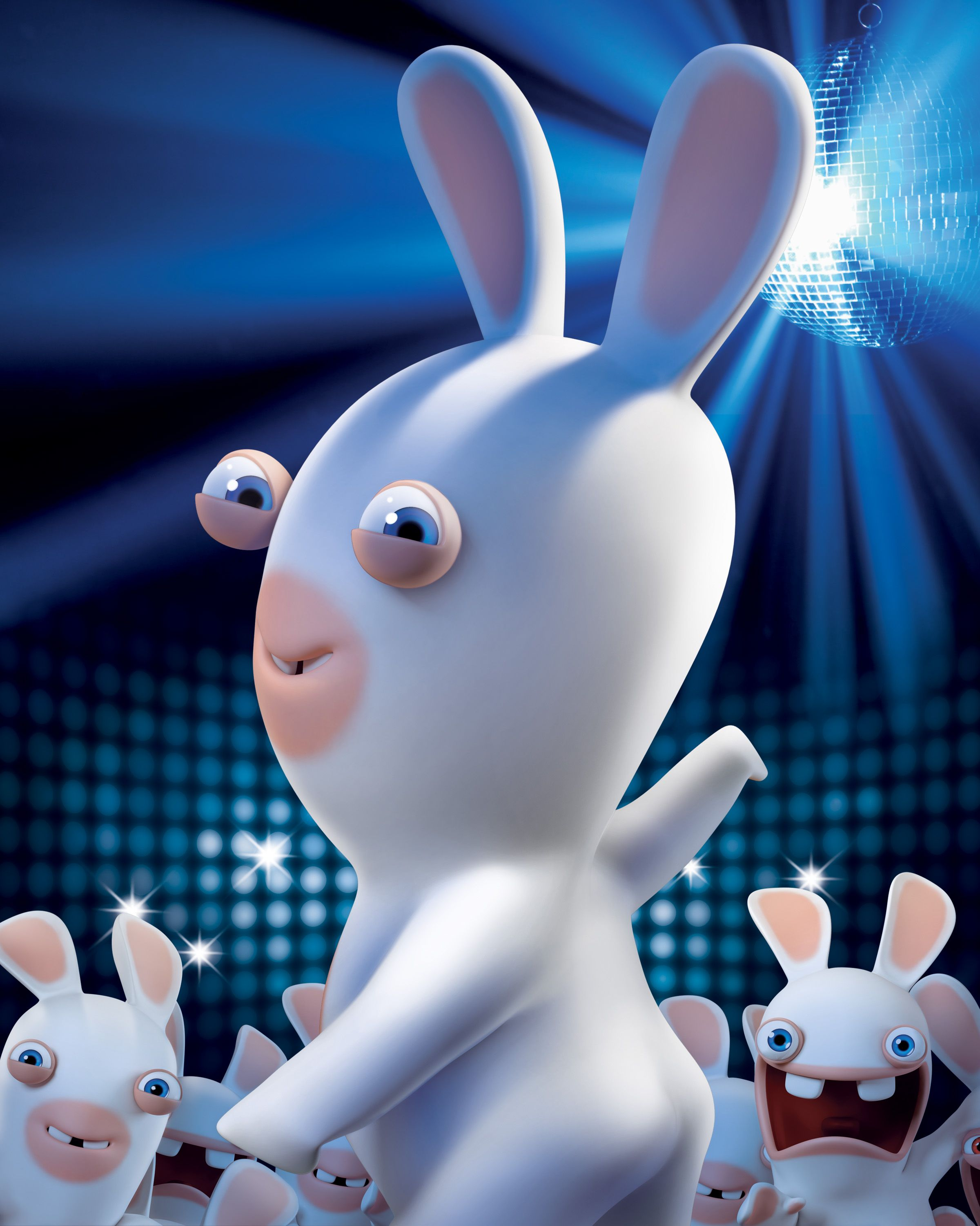 Raving rabbids spank a rabbit