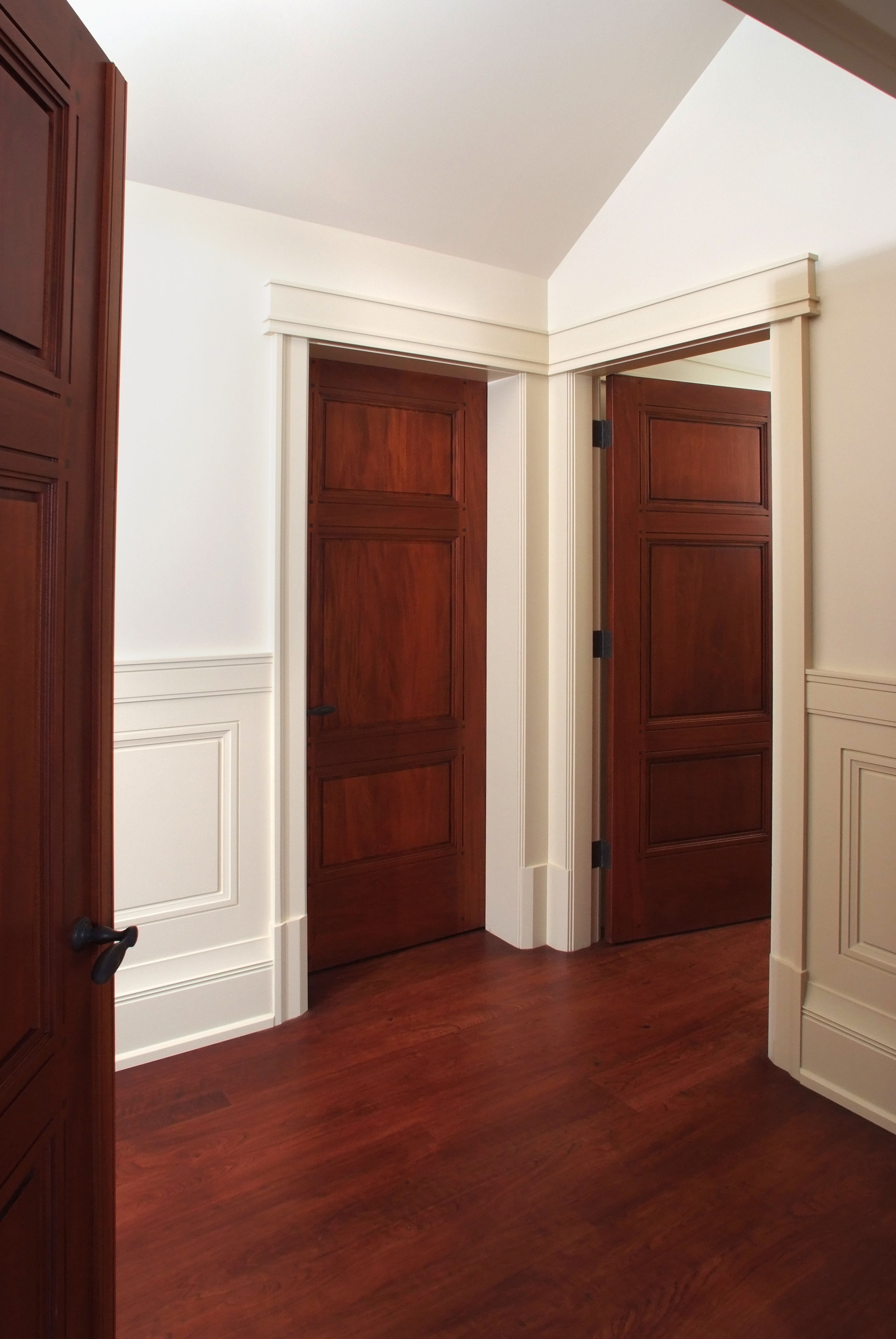 Custom 3 panel Mahogany interior door with craftsman style ...