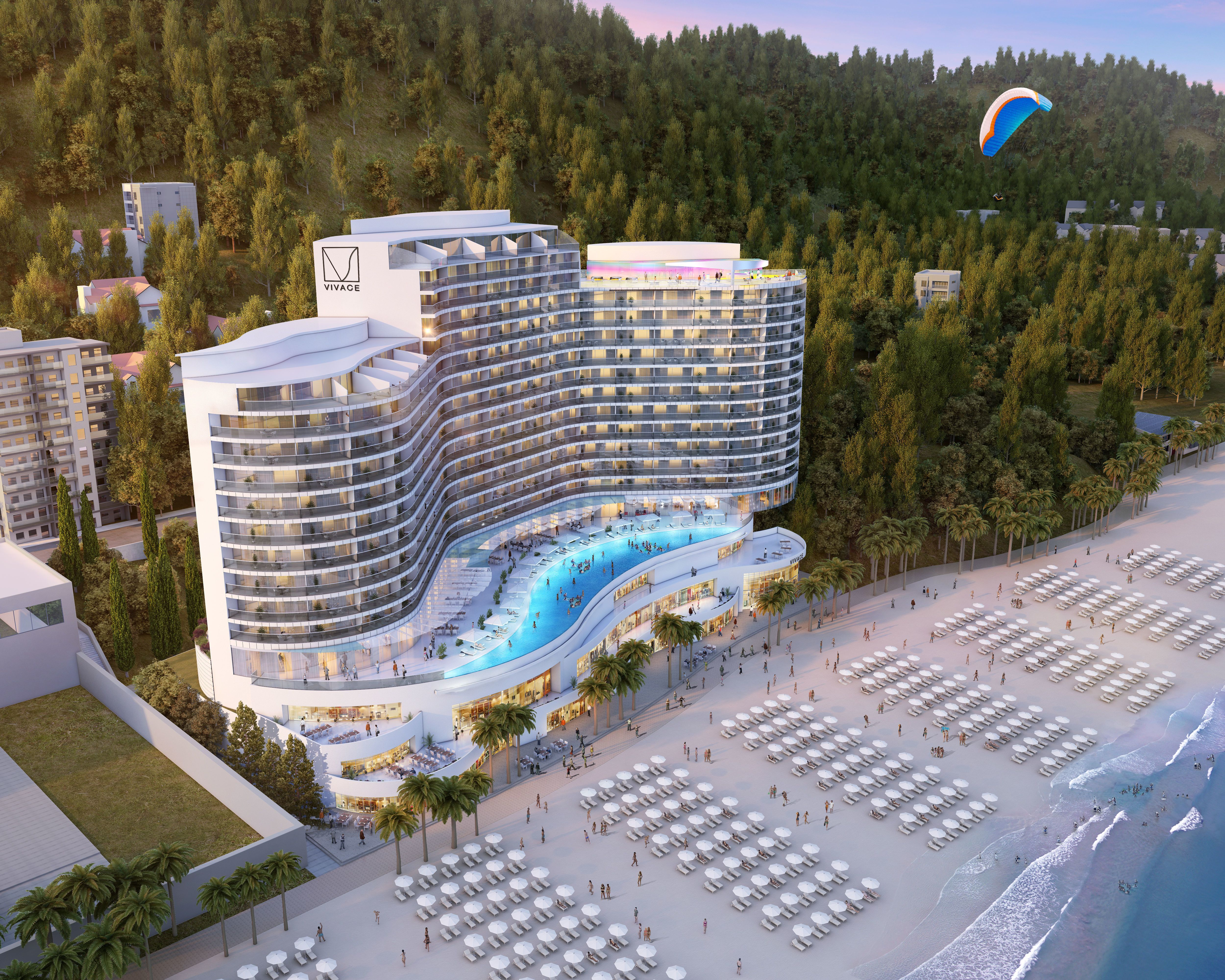 3d Model Hotel 018 Cgtrader Hotel Design Architecture Hotel Architecture Hotel Concept