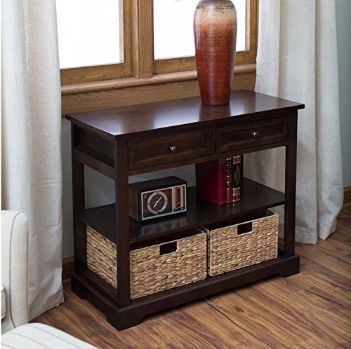 New Console Table with Baskets