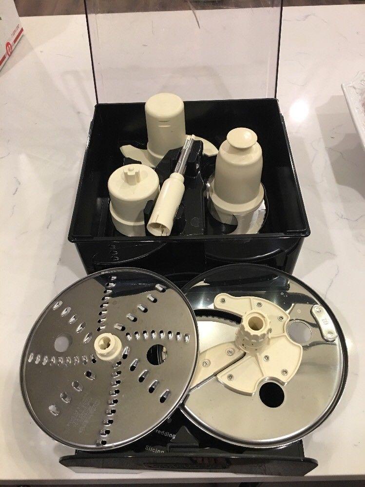 Etonnant Cuisinart 16 Cup~ Fp 16/14bksc Storage Case + 3 Blades 2 Discs U0026 Stem  Adapter