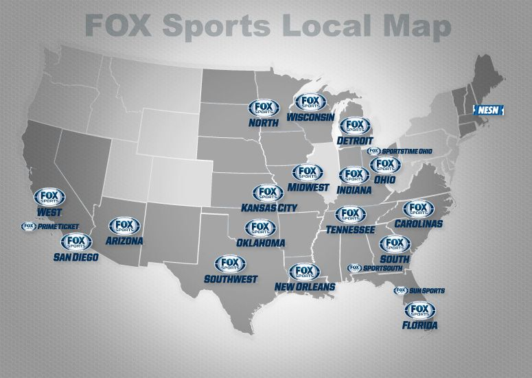 FOX Sports Local Map (With images) Fox sports, Local map