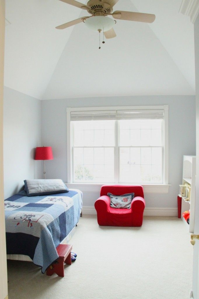 Best The Perfect Blue Grey For A Boys Room Using Olympus White 400 x 300