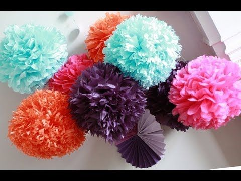 How to diy paper pom tutorial decorations that impress youtube how to diy paper pom tutorial decorations that impress youtube mightylinksfo