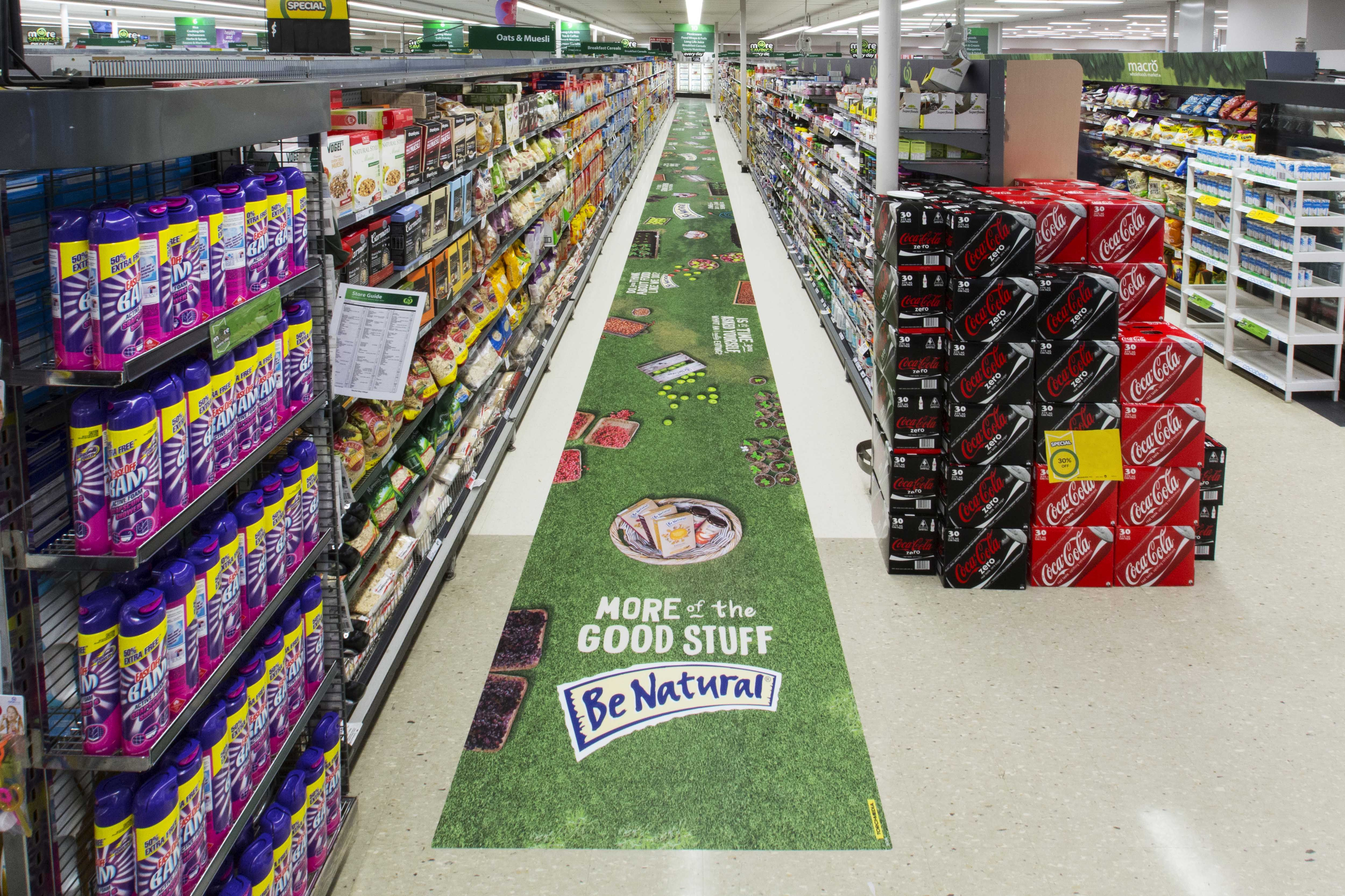 TorchMedia Rolls Out Aisle Floor Decal For Be Natural   Be Natural Is  Promoting Its Range