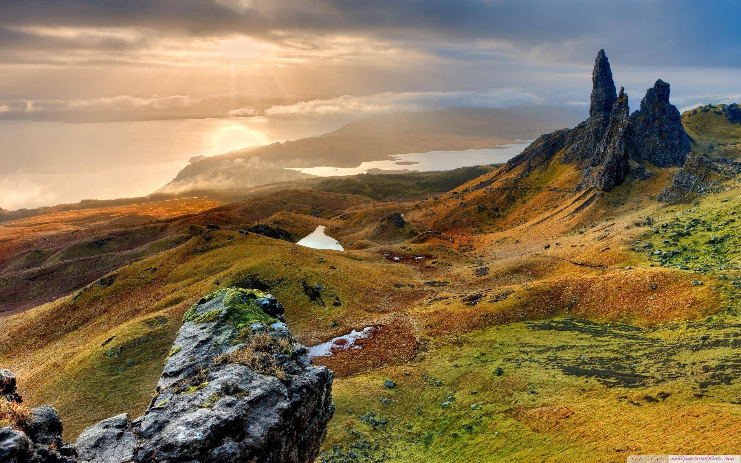 the storr hill panorama scotland hd desktop wallpaper fullscreen mobile dual monitor