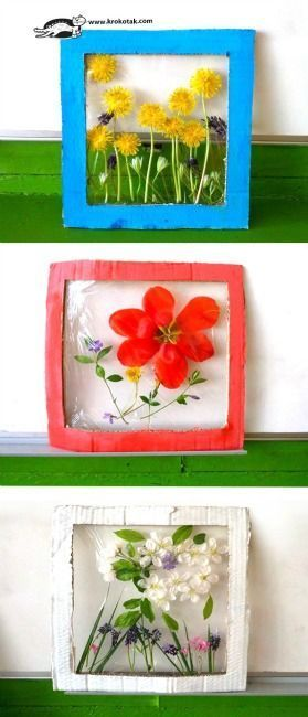 Breathtaking Nature Crafts for Kids -   25 nature crafts flowers