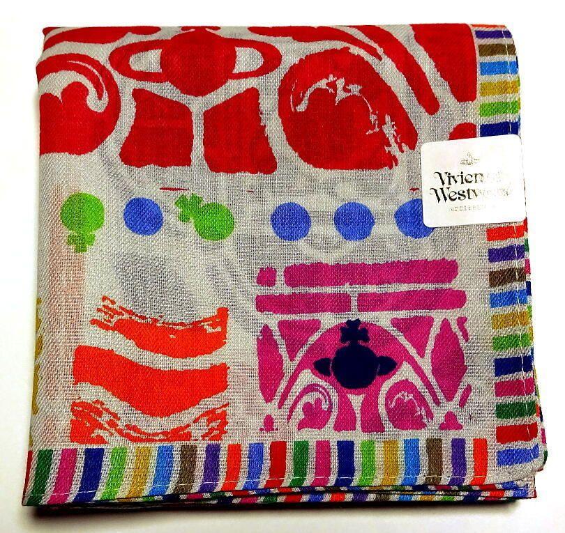 Vivienne Westwood Handkerchief hanky scarf bandana Cotton Gray ORB Auth New  #VivienneWestwood #DesignerArtist