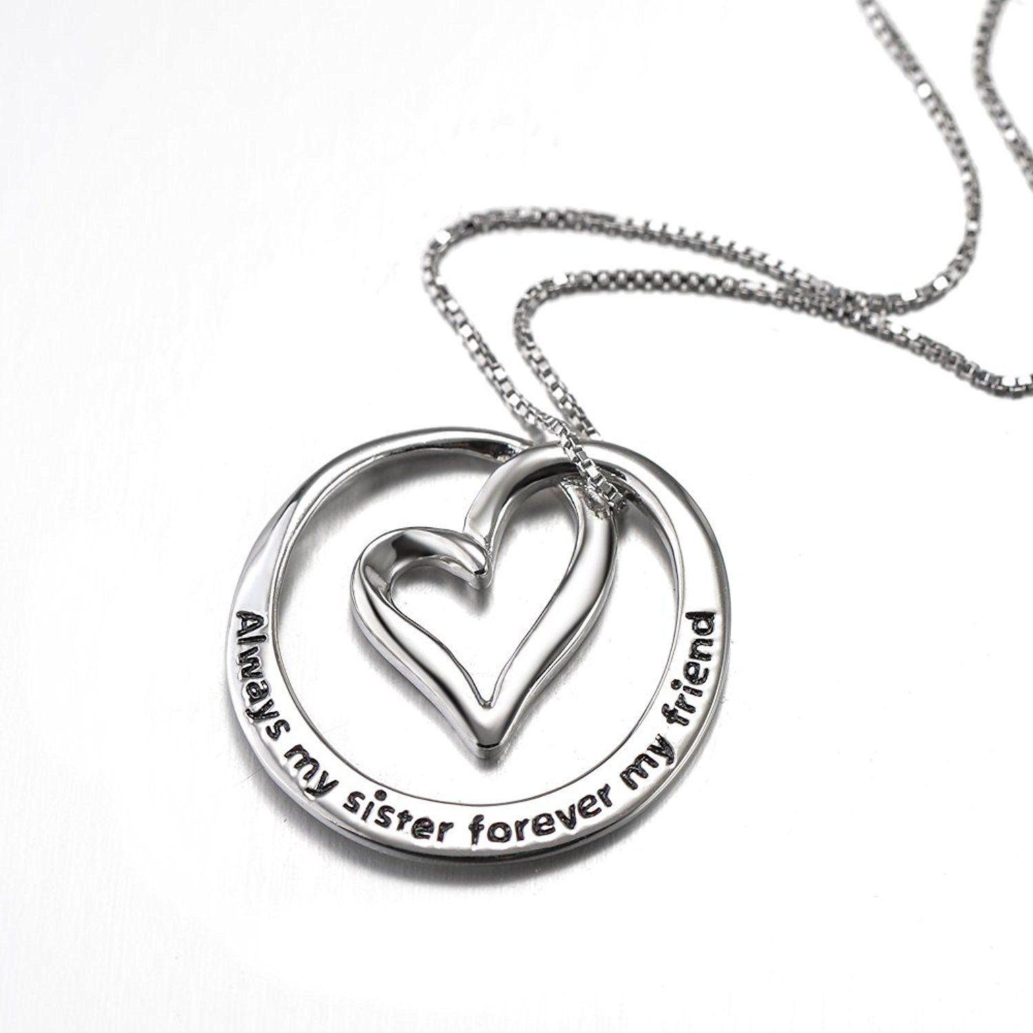 Sister Necklace Engraved