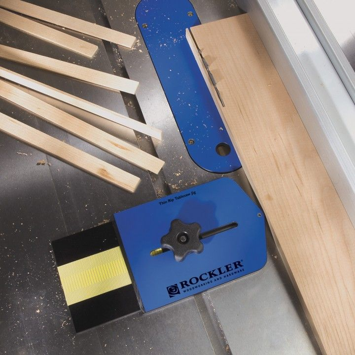 Rockler Thin Rip Tablesaw Jig Used Woodworking Tools Table Saw Jigs Woodworking Jigs