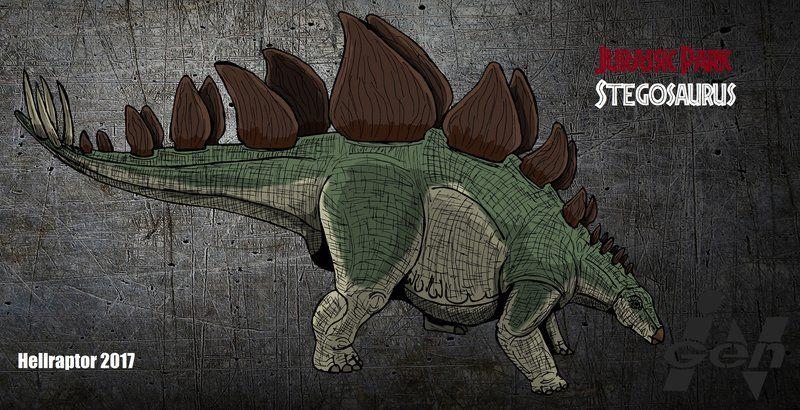 Jurassic Park Stegosaurus New Art By Hellraptor