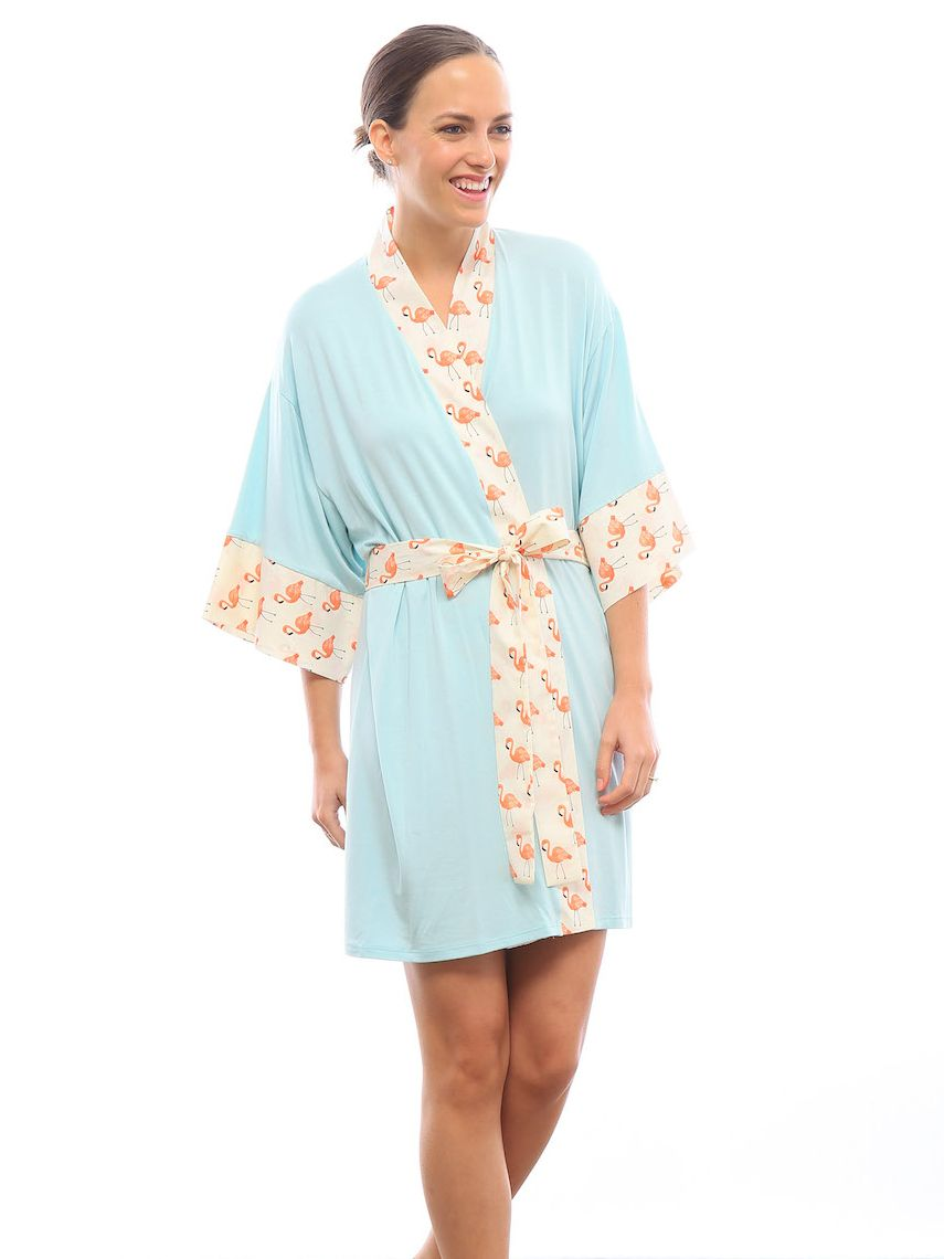 Flamingo robe inspired by the hues and feel of Palm Springs ... 14d2ffba2