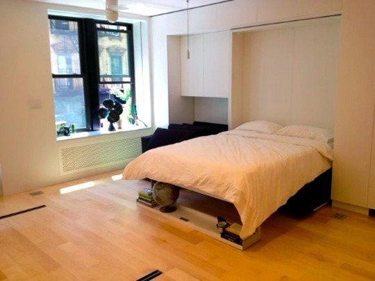 http://www.apartmenttherapy.com/lifeedited-graham-hills-tiny-apartment-treehugger-171768