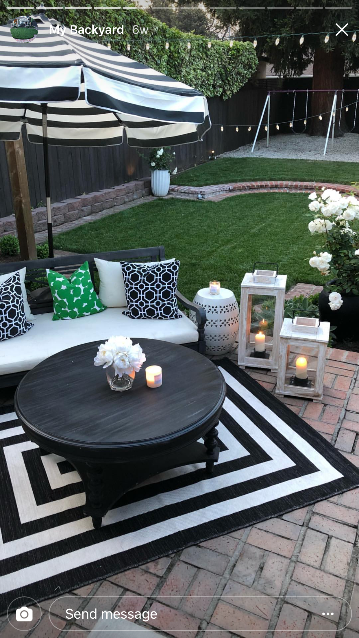Image by Kris on Outdoor Living Space | Outdoor evening ... on Living Spaces Patio Set id=91205