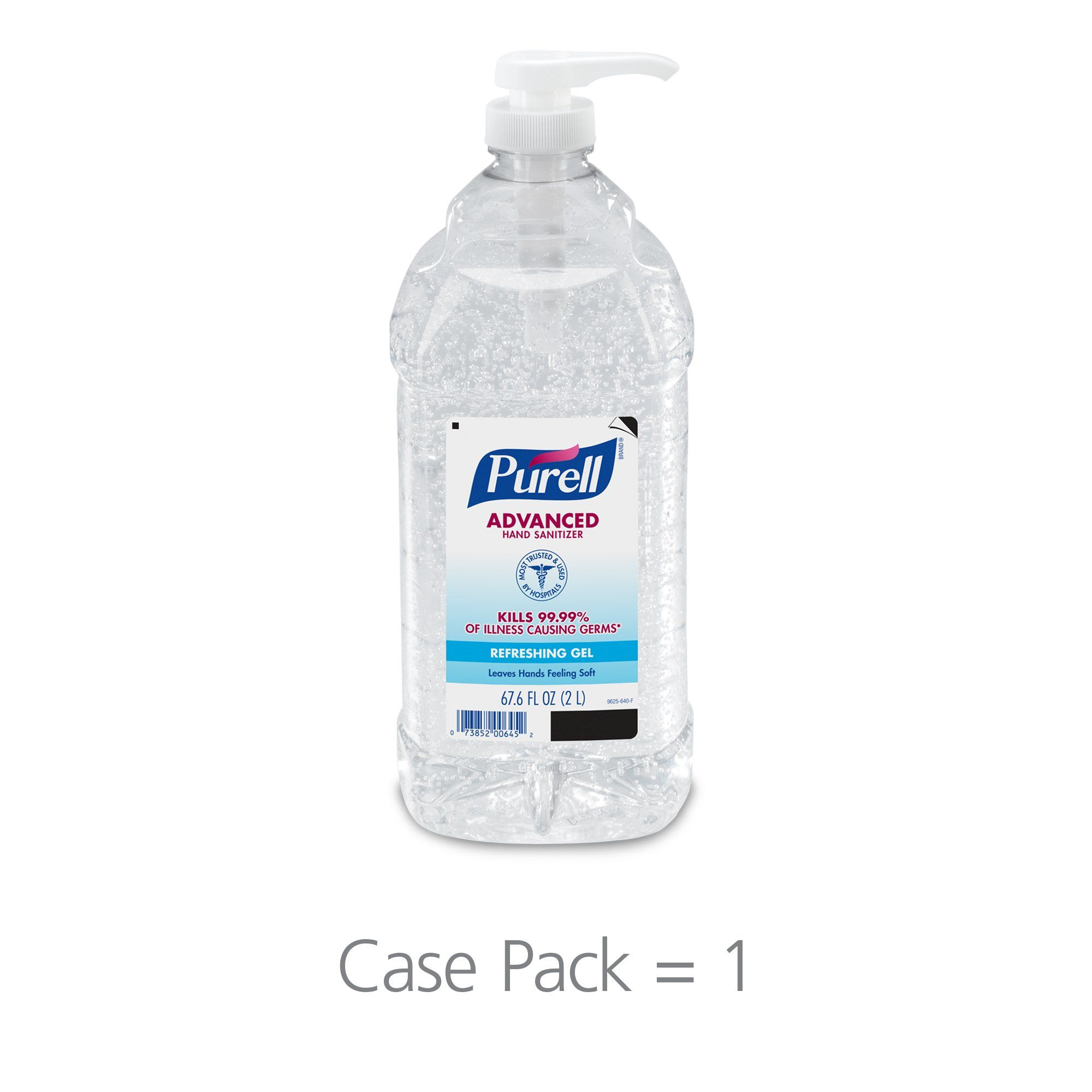 Purell Advanced Hand Sanitizer Hand Sanitizer Gel 2l Pump Bottle