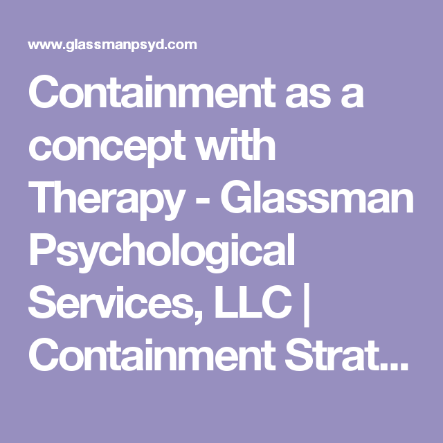 containment therapy