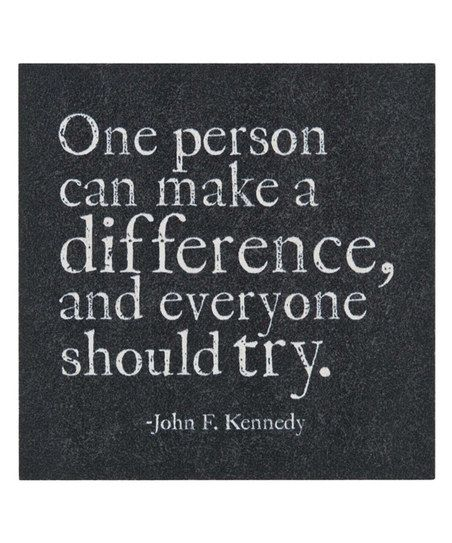 "Make A Difference Quotes One Person Can Make A Difference' Magnet  ""fashion Gifts & Foods ."