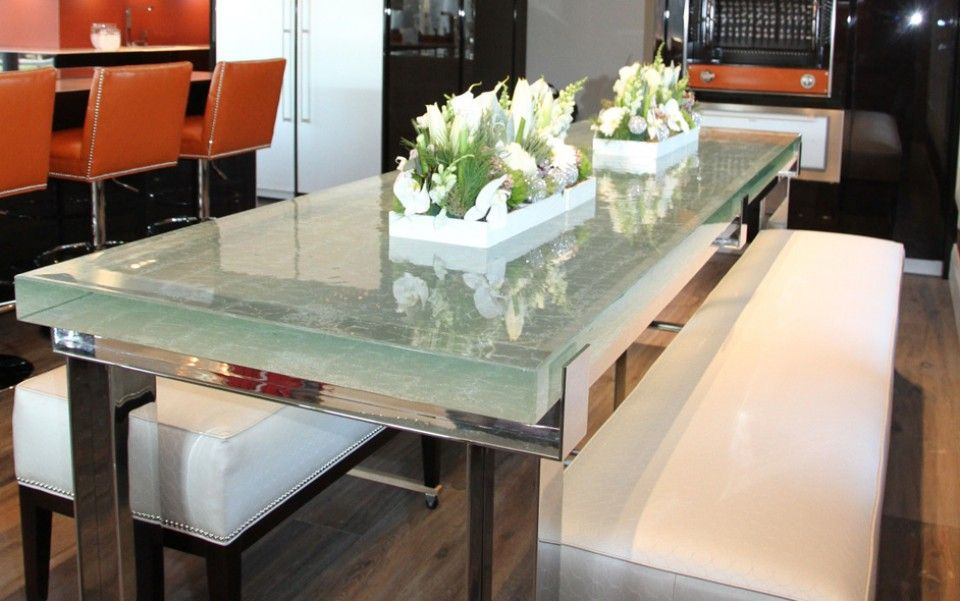With A Remarkable Blend Of Function And Art, ThinkGlass Offers Glass  Kitchen Countertops, Backsplashes And Raised Bars That Literally Transform  Your Eating ...