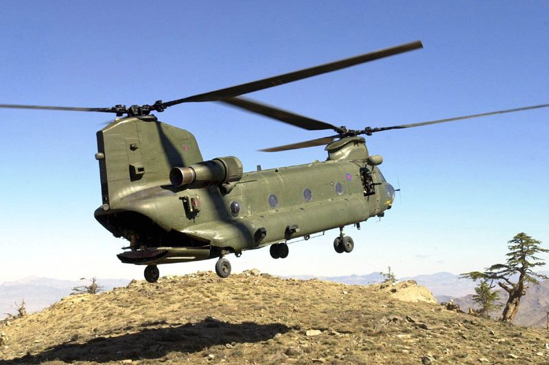 CH47 Chinook - UK, in Afghanistan, 2002