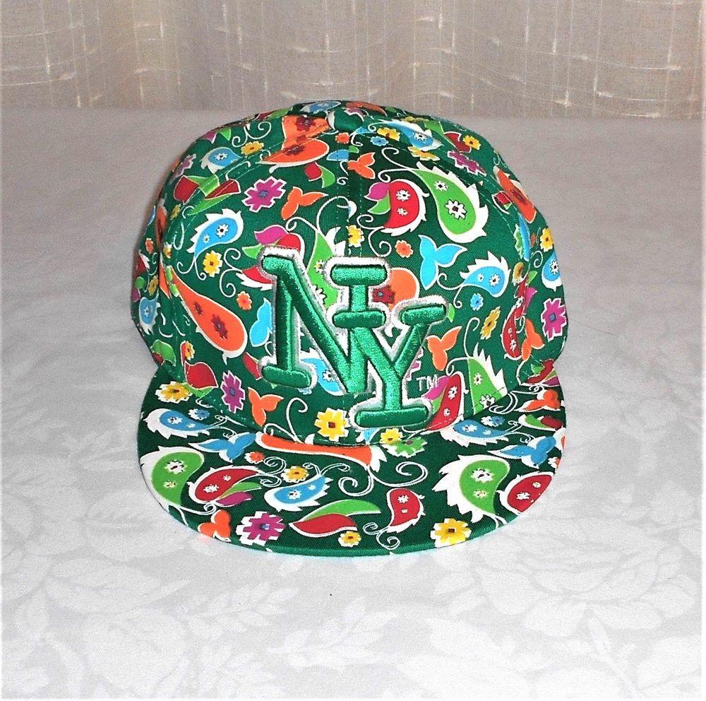 fb730d93fb674 City Hunter NY New York Green Multi Colored Paisley Design Hat L Spring  Time  CityHunter  BaseballTrucker